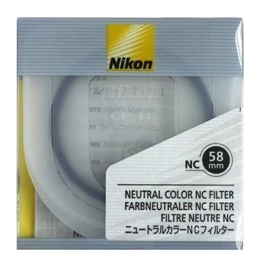 Nikon 58mm Neutral Clear Filter