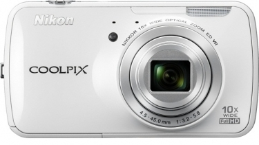Nikon 16 Megapixel COOLPIX S800c Digital Camera White