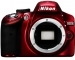 Nikon D3200 Red Digital SLR Camera Body Only