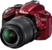 Nikon D3200 Red Digital SLR Camera With 18-55mm VR Lens