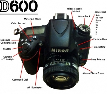 Nikon D600 Digital SLR Camera Body Only