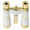 Opera Glasses 3x25 LaScala Optics Othello Binocular White Gold