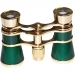 Opera Glasses Aida 3x25 LaScala Optics Binoculars Green & Gold