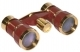 Opera Glasses 3x25 Rigoletto Binoculars Burgundy Gold