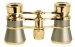 Opera Glasses 3x25 Aida LaScala Optics Binoculars Titanium Gold