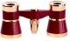 Opera Glasses 3x25 LaScala Optics Othello Binocular Burgundy Gold