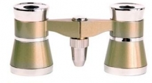 Opera Glasses 3x25 LaScala Optics Othello Binocular Titanium Gold