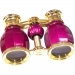 LaScala Optics Hamlet 4x30 Opera Glass Burgundy & Gold