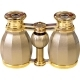 4x30 LaScala Optics Hamlet Opera Glass Titanium & Gold