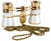 Opera Glasses 3x25 LaScala Optics Carmen Binoculars White Gold