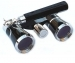 Black Gold Opera Glasses 3x25 Iolanta Binoculars with Red Light