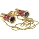With Red-Light LaScala Optics 3x25 Carmen Opera Glass (Burgundy Gold)