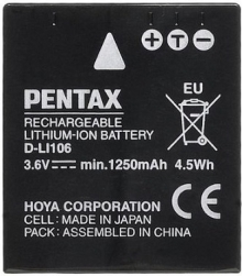 Pentax D-LI106 Rechargeable Lithium-Ion Battery