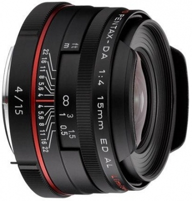 Pentax High Definition DA 15mm F4 ED AL Limited Lens (Black)