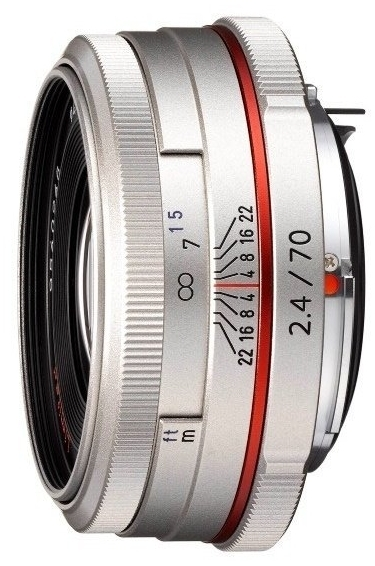 Pentax HD 70mm F2.4 DA Limited Lens (Silver)