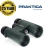 Praktica 10x42mm Odyssey Waterproof Binoculars - Green
