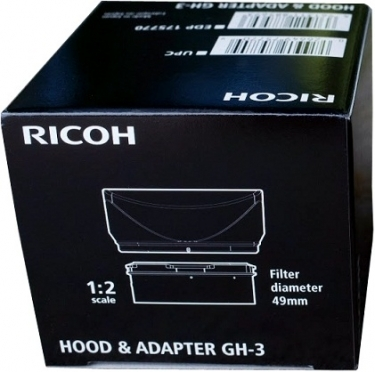 Ricoh GH-3 Hood and Adapter For Ricoh GR Digital Camera