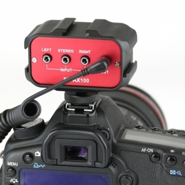 Saramonic SR-AX100 Passive Audio Adapter for DSLR And Camcorder