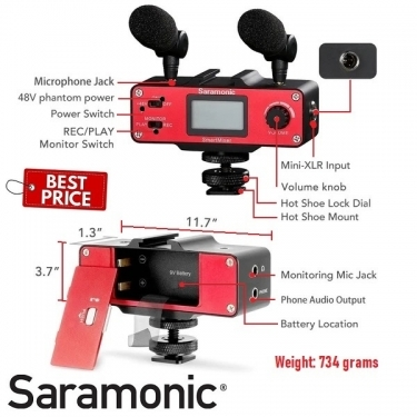 Saramonic SMARTMIXER Audio Mixer for Smartphone