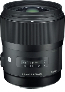 Sigma DG HSM 35mm F1.4 Lens For Nikon