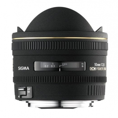 Sigma 10mm F2.8 Ex Dc Fisheye HSM Lens for Canon DSLR Cameras