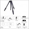 Slik 614 CF-Carbon Fibre-Tripod Legs_(Maximum Height 61.2 inch)