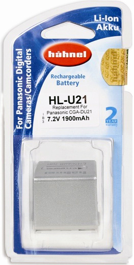 Hahnel HL-U21 Silver Battery for Panasonic Camcorder