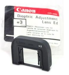 3 EG Dioptric Adjustment Lens For Specific Canon EOS Cameras UK Stock Canon