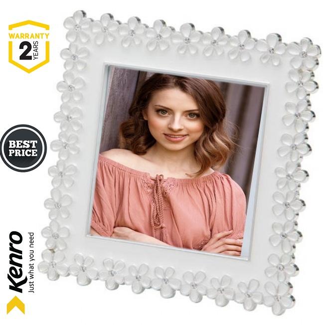 Kenro Chloe White Series Square 4x4 Inch Frame