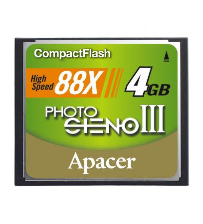 Apacer 4GB 88X Compact Flash Card