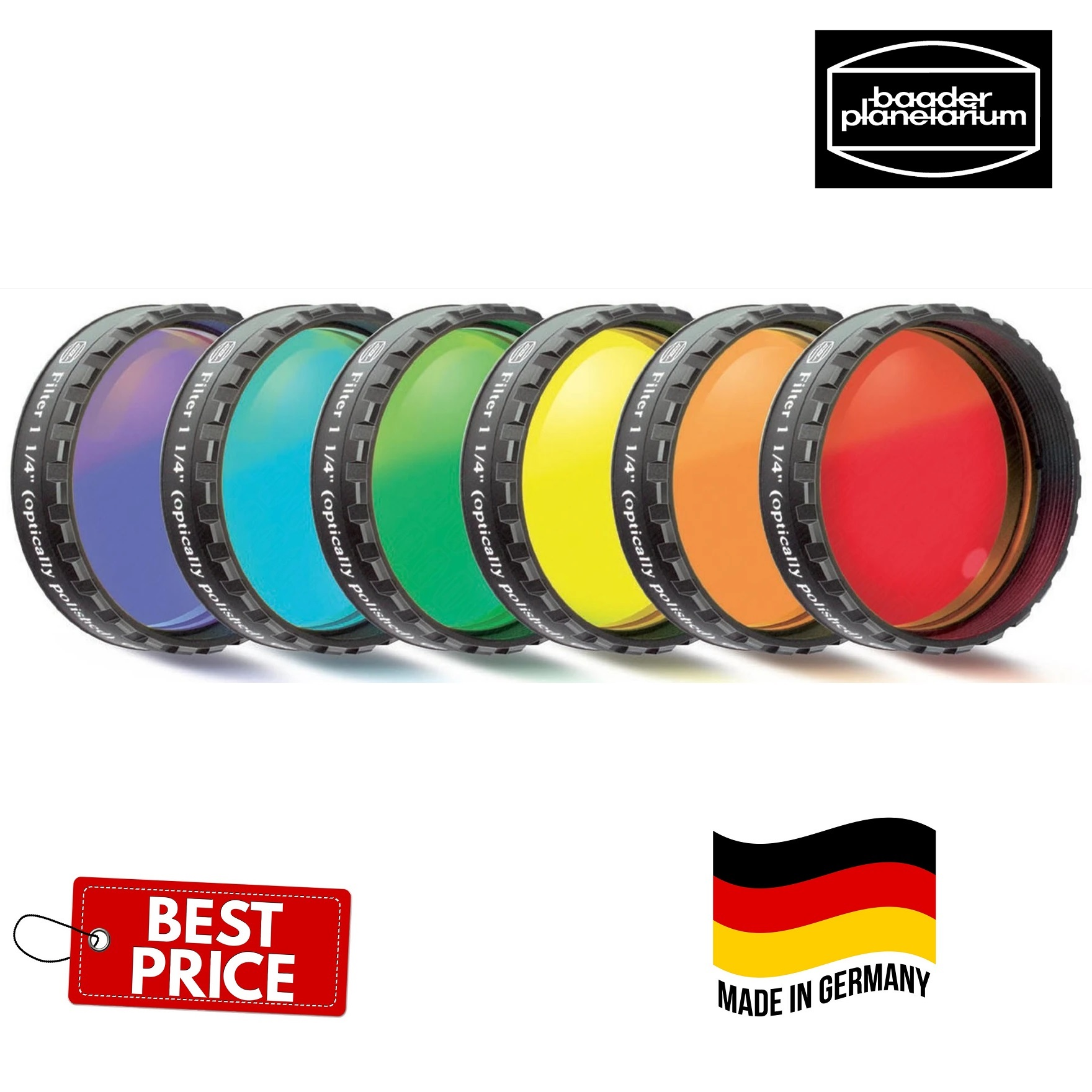 Baader Planetarium 2inch Eyepiece Filter-Set/6 colors PCG Multicoated