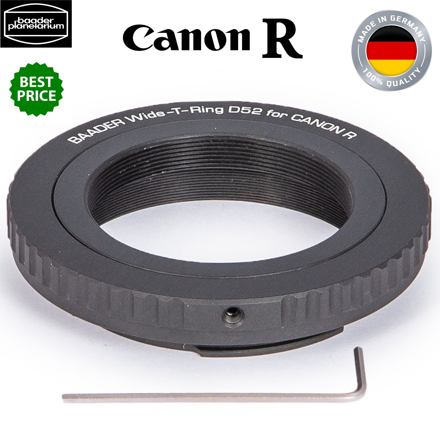 Baader Wide T-Ring For Canon R Bayonet with D52i to T-2 and S52