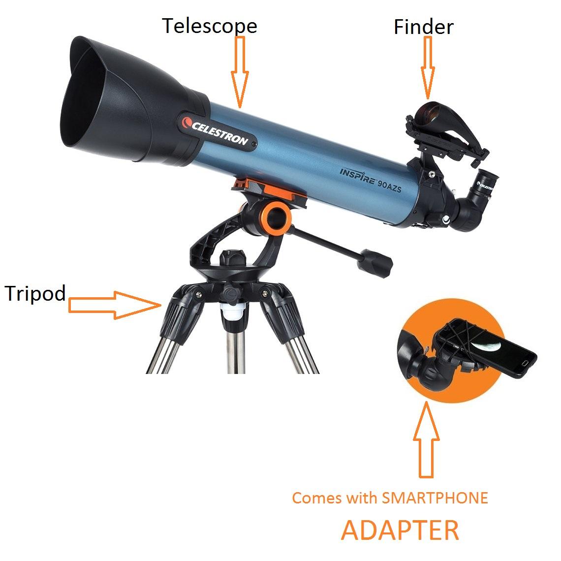 Celestron Inspire 90AZS Telescope