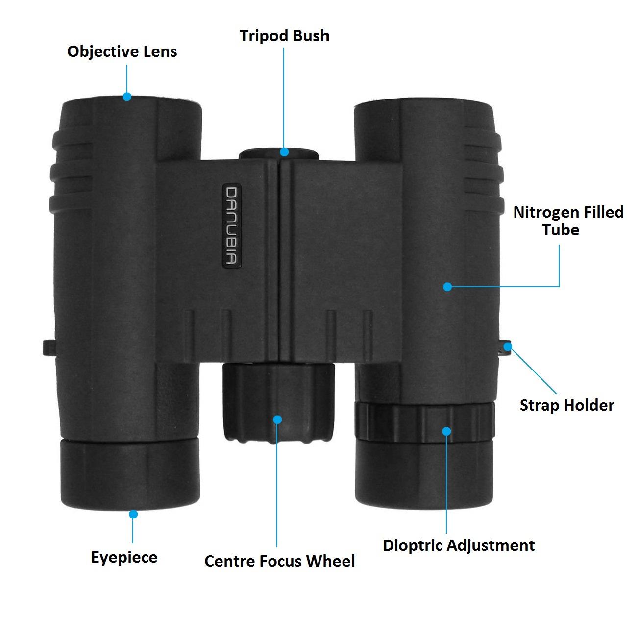 Dorr Danubia 10x25 Bussard I Roof Prism Pocket Binoculars
