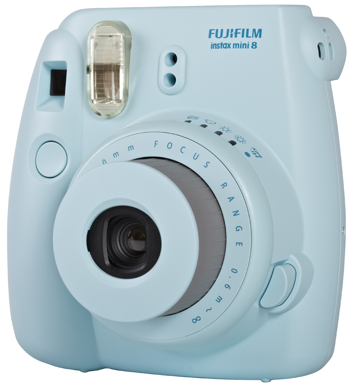fujifilm instax mini 8 blue instant camera inc 10 shots. Black Bedroom Furniture Sets. Home Design Ideas
