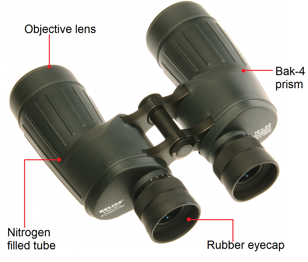Helios Stellar II 10x50 Water Proof Obervation Binoculars