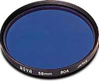 Hoya 55mm Standard 80A Blue Filter