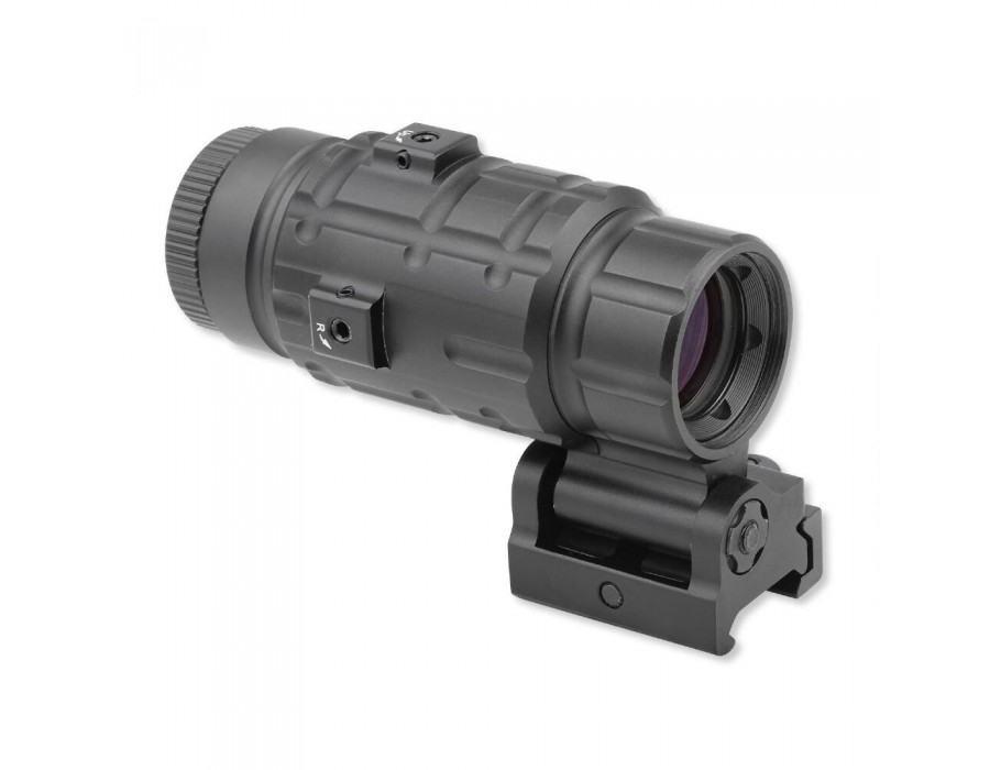 Leapers UTG 3X Magnifier with Flip-to-side QD Mount W/E Adjustable