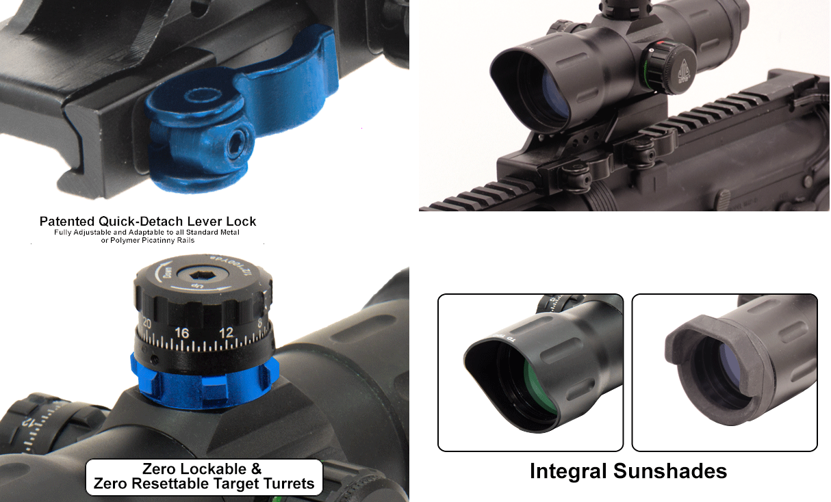Leapers UTG 6 Inch ITA CQB Red / Green Dot Sight With Offset QD Mount