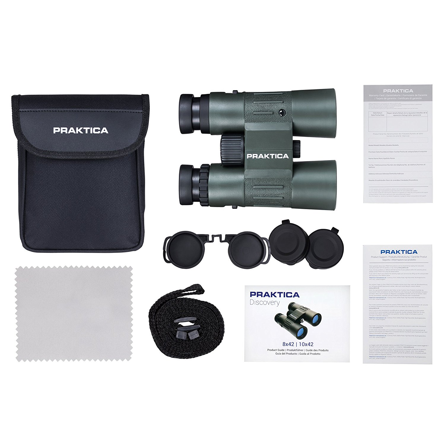 Praktica 8x42mm Multi-Coated Waterproof Binoculars Green