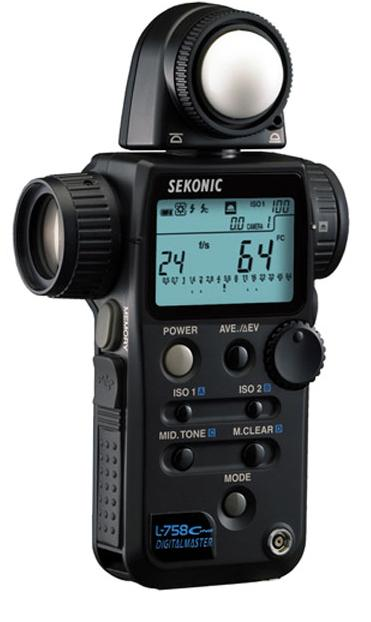 Sekonic L-758C Cine Light Meter Light with Radio Triggering meter