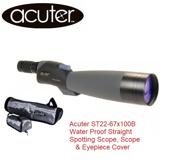 Acuter ST22-67x100B Water Proof Straight Spotting Scope