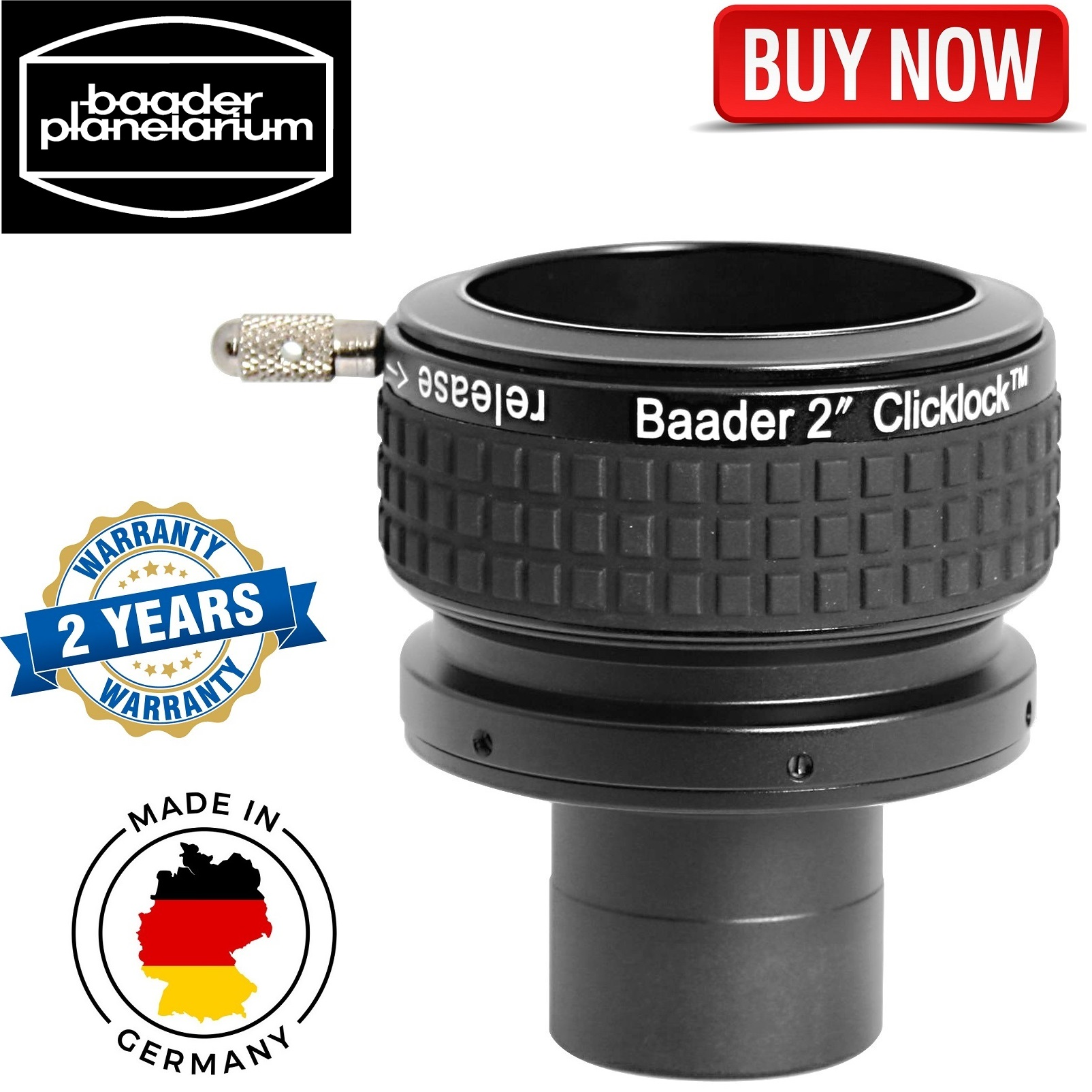 Baader 1.25 Inch (or T-2) to 2 Inch Expansion Adapter