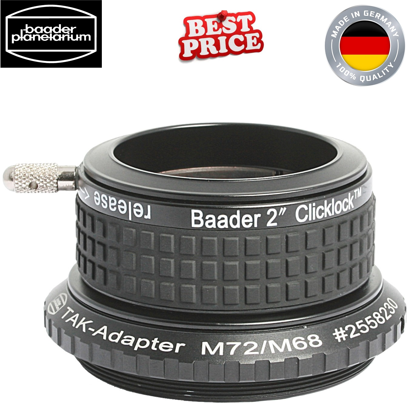 Baader CL-M72 2-Inch ClickLock Clamp For Takahashi Refractors