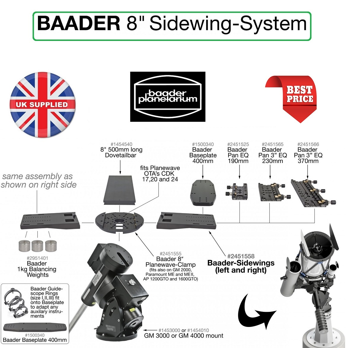 Baader BP II Guidescope Rings
