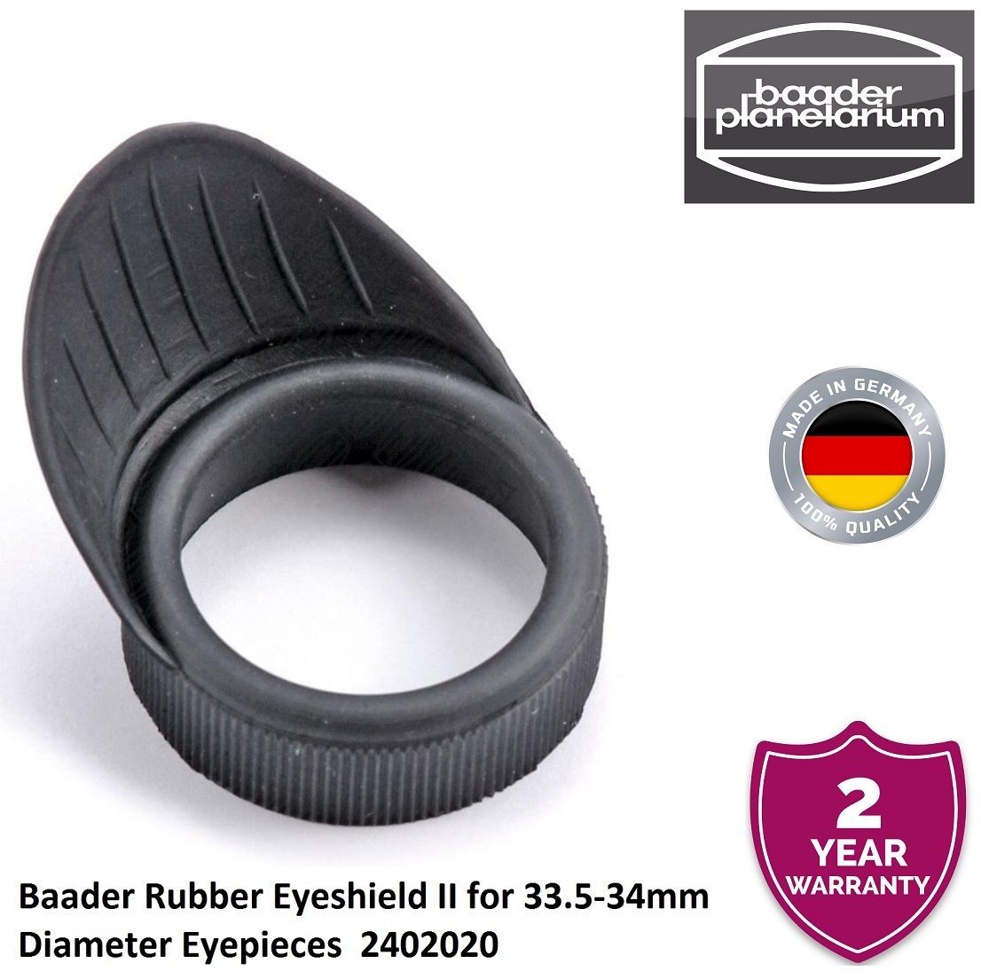 Baader Rubber Eyeshield II for 33.5-34mm Diameter Eyepieces