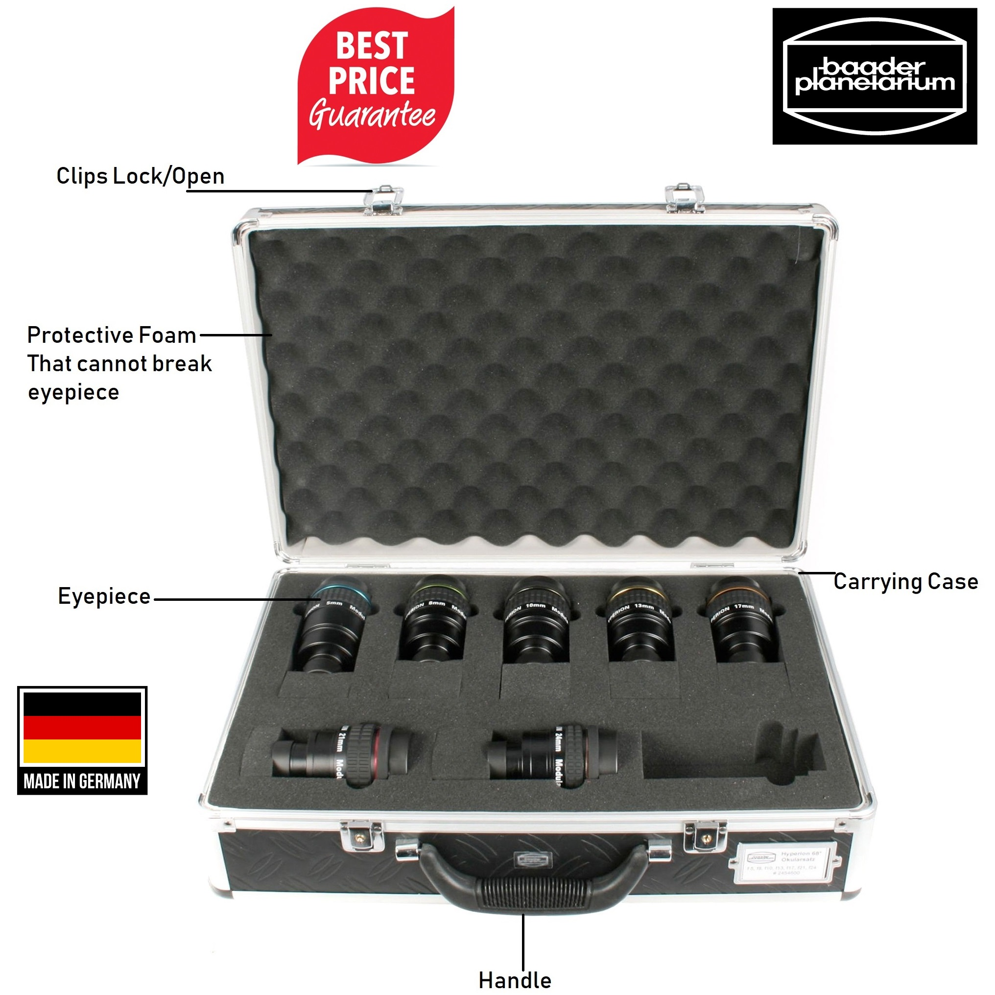 Baader Hyperion Eyepieces Complete Set With Carry Case