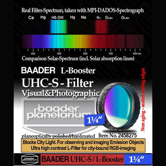 Baader UHC-S 1.25 inch Optically Polished L-Booster Filter