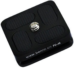 Benro PU-40 Quick Release Plate for J and B Series Ball Head