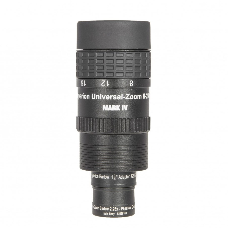 Baader Hyperion 8-24mm Universal Zoom Mark IV With Barlow 2.25X Lens